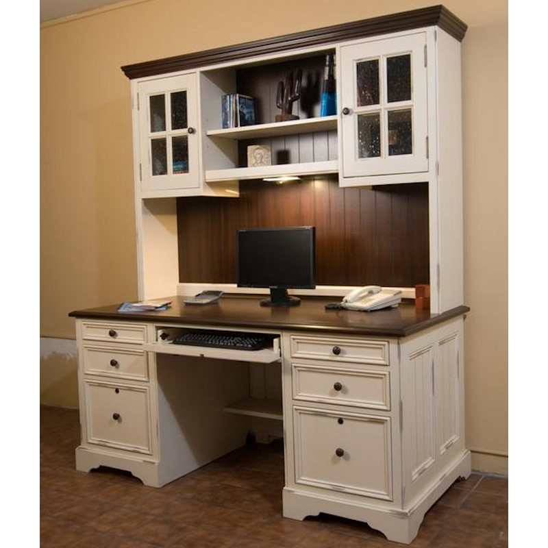 North American Wood Furniture Computer Desk With Hutch
