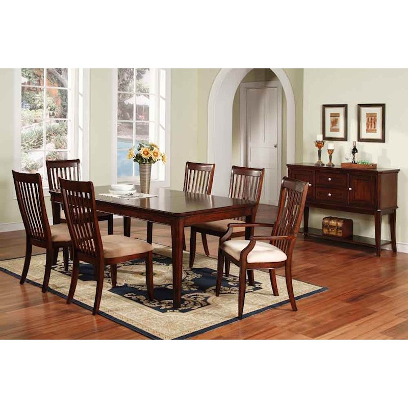 Winners Only Topaz Cherry 7 Piece Dining Room Set - Stewart Roth Furniture