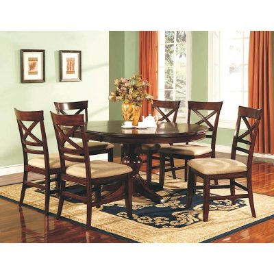Winners Only Topaz Cinnamon 7 Piece Dining Room Set