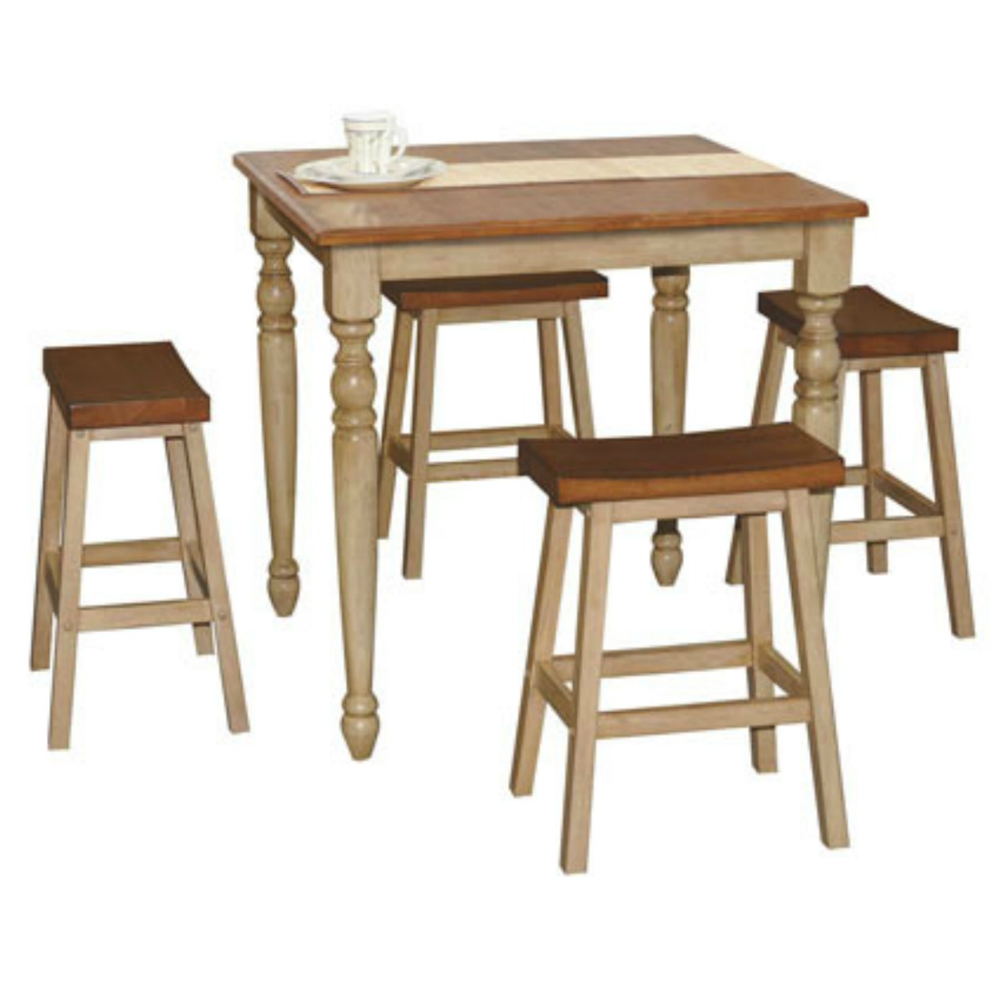 5 Piece Tall Dining Set Almond Wheat By Winners Only Stewart Roth Furniture