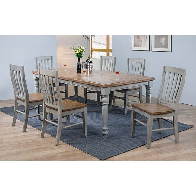 Barnwell 7 Piece Dining Set Rustic Brown Gray By Winners Only Stewart Roth Furniture
